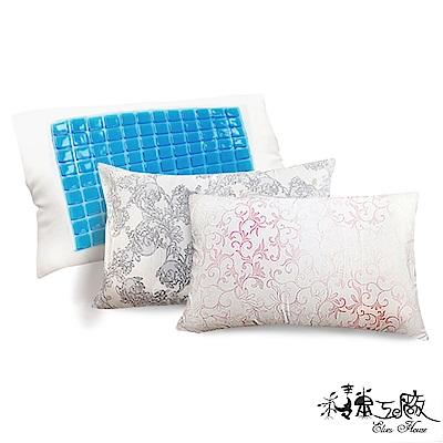 精靈工廠 冰涼天絲珠光圖騰冷凝膠枕
