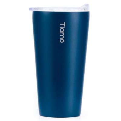 Tiamo 真空陶瓷隨手杯 410ml(HE5161)-藍色系