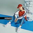 H:CONNECT 韓國品牌 -亮眼印字扣環腰帶-藍