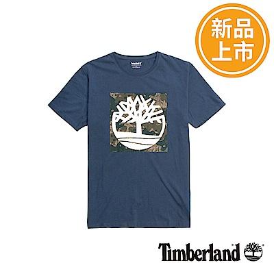 Timberland 男款深藍色Kennebec Brand短袖T恤