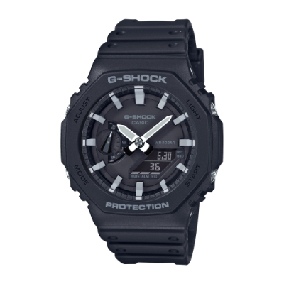CASIO卡西歐 G-SHOCK 八角型錶殼 GA-2100-1A 45.4mm
