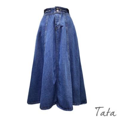 高腰牛仔吊帶裙 TATA-(M~XL)