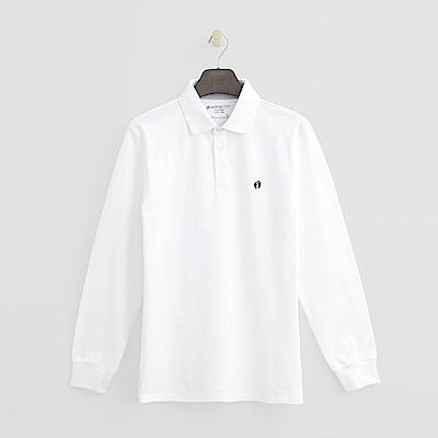 Hang Ten - 男裝 - 經典純色POLO衫-白色