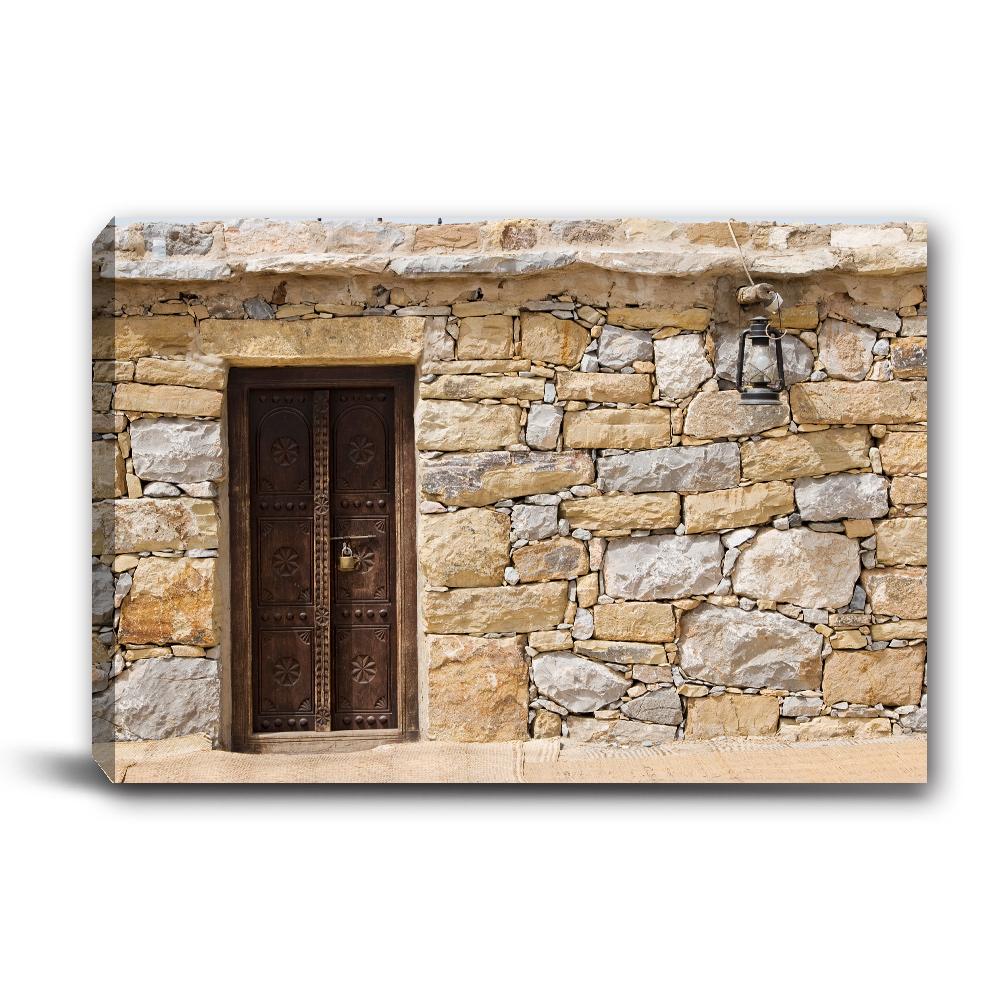 24mama掛畫-單聯式橫幅 掛畫無框畫 磚牆-60x40cm