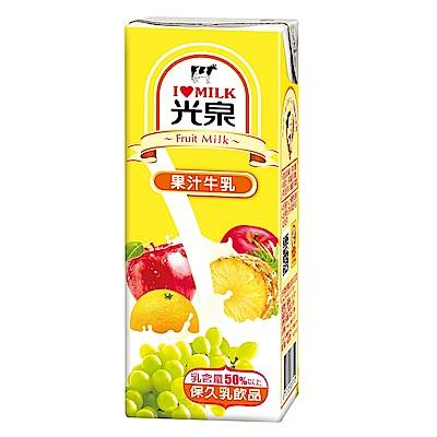 光泉 果汁牛乳(200mlx24入)