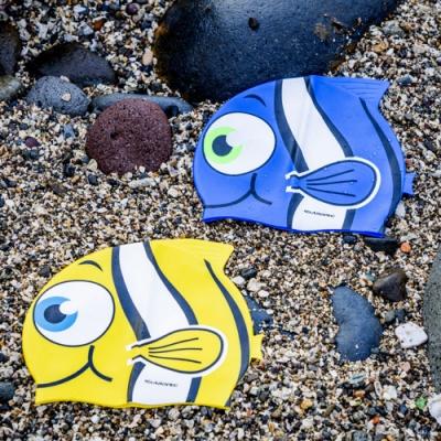 AROPEC 100%矽膠舒適兒童泳帽-小丑魚.兒童矽膠泳帽 不勒頭高彈性游泳帽子