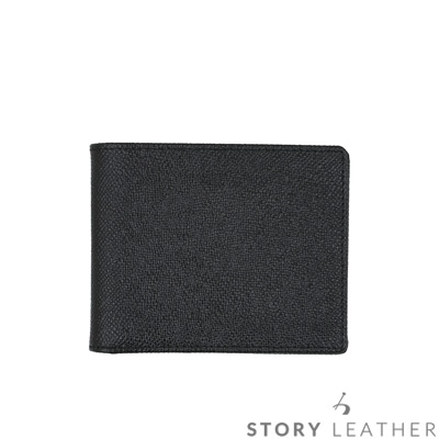STORYLEATHER Style 91291 牛皮短夾 八掌紋黑