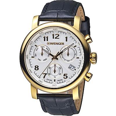WENGER 都會系列雅痞時尚計時腕錶(01.1043.106)44mm