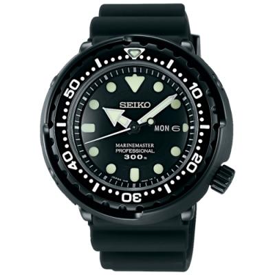 SEIKO精工 Prospex 50週年紀念款鮪魚罐頭潛水錶(SBBN035J)-黑/47.7mm