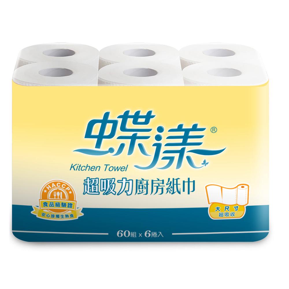 蝶漾捲筒廚房紙巾60組x6粒/串