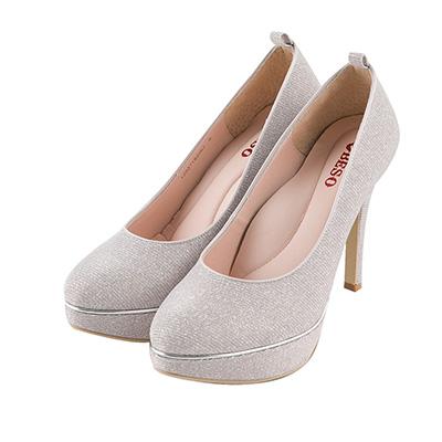 BESO 幸福閃耀 2way腳踝飾帶防水台高跟鞋~粉