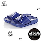 StarWars童鞋 星際大戰 黑武士 輕量減壓室內外拖鞋-藍
