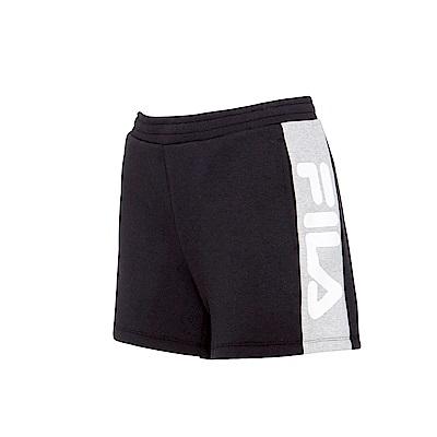 FILA 女針織短褲-黑 5SHS-5430-BK