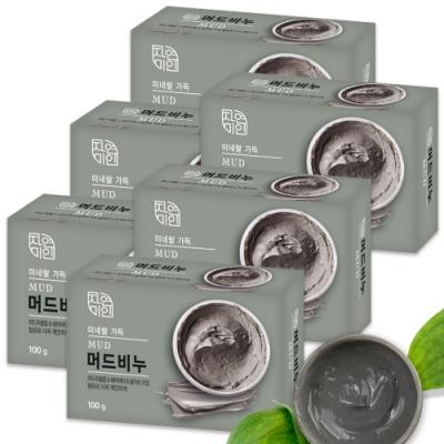 韓國 MKH無窮花 乳木果油保濕SPA放鬆香皂 6入
