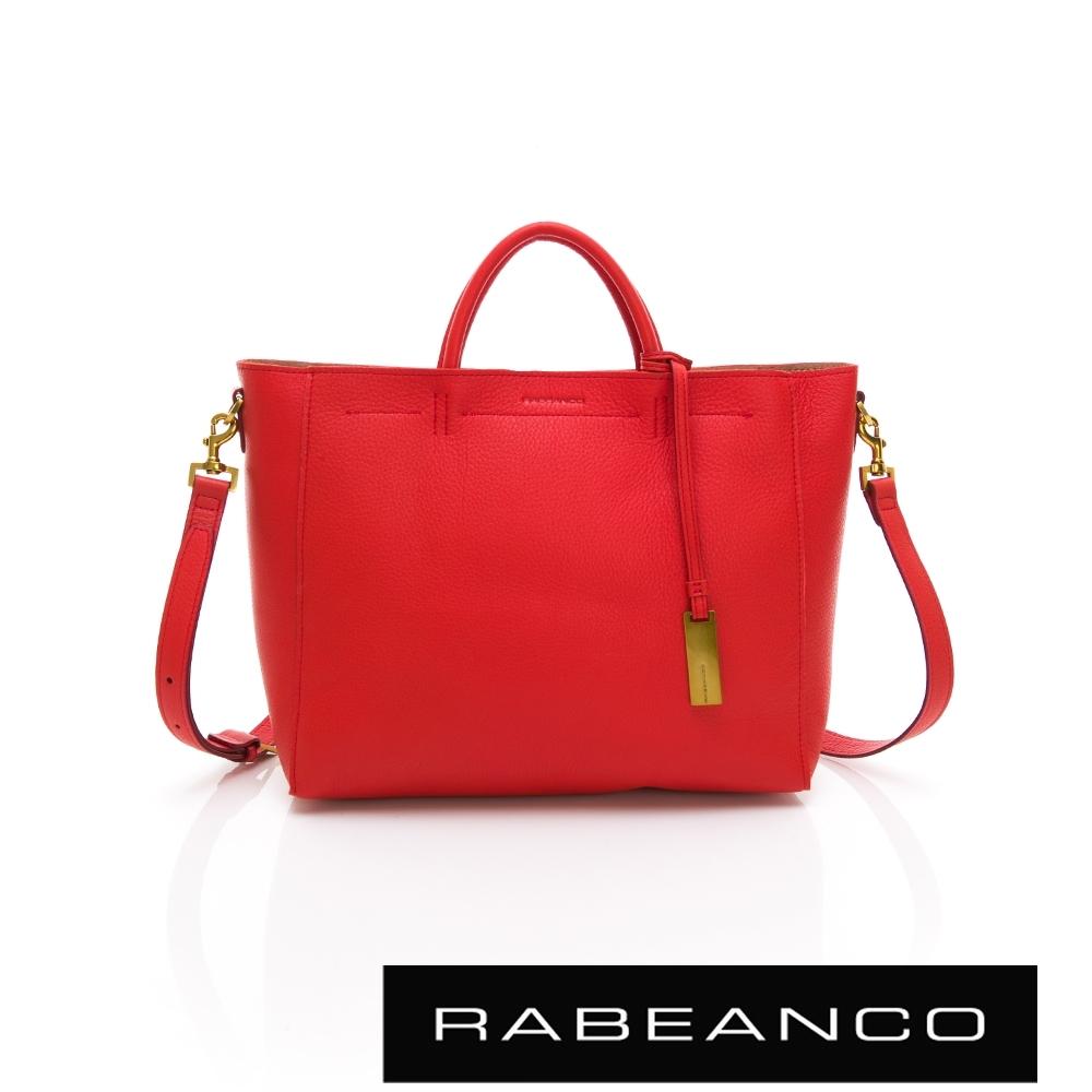 RABEANCO 迷時尚系列優雅兩用小手提包(大) 鮮紅