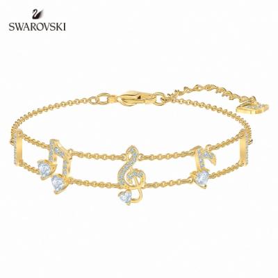 SWAROVSKI 施華洛世奇 PLEASANT 淡金色晶燦星芒手鏈