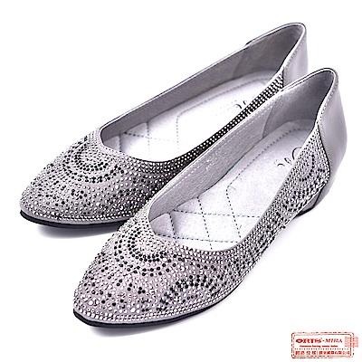 ORIS 女款 真皮質感亮鑽平底鞋 W8511N10