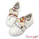 Disney collection by grace gift皮片鬆緊繃帶懶人鞋 白