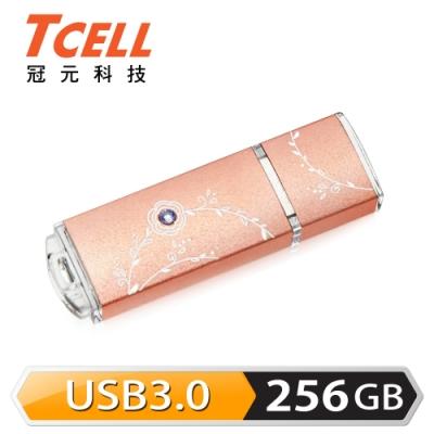 TCELL 冠元-USB3.0 256GB 絢麗粉彩隨身碟-玫瑰金