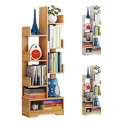 【Incare】多層創意樹型收納書櫃(3色可選)