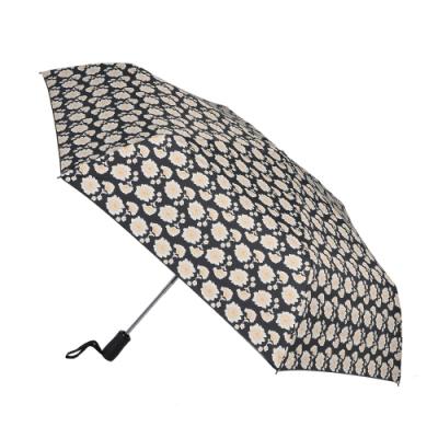 2mm 100%遮光 創意系黑膠降溫多段式自動開收傘 (花朵)