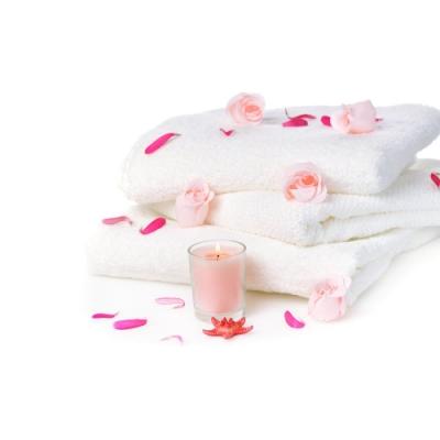 花季 典雅風情-純白五星飯店級厚織大浴巾3件組(133x68cm/600g)