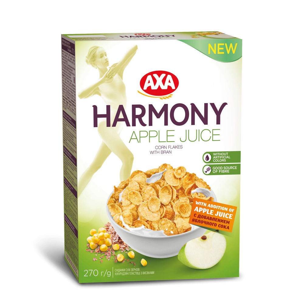 瑞典AXA 蘋果風味麥麩玉米纖穀片 270g