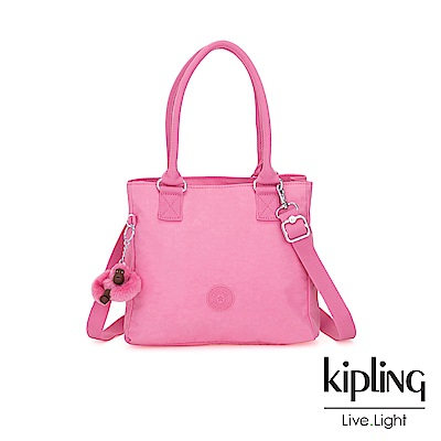 Kipling 甜美糖果粉肩背側背方包-ESILO