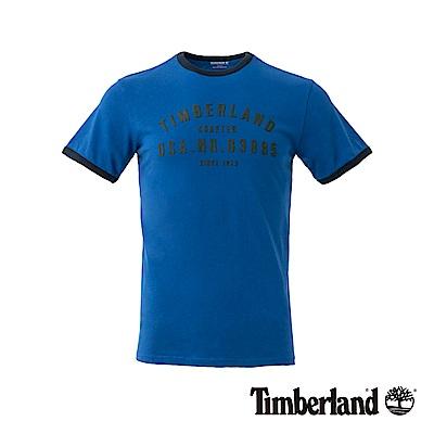 Timberland 男款藍色 LOGO T恤|A1NHI