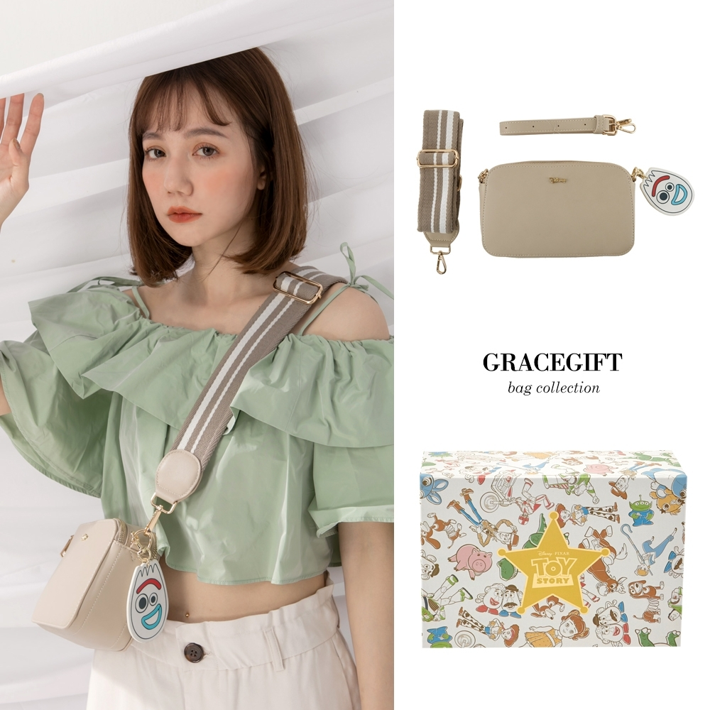Disney collection by gracegift玩總雙背帶相機包 灰 product image 1