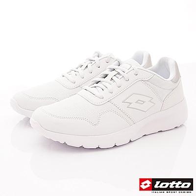 Lotto樂得-極致輕量跑鞋 SE009白(男段)