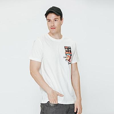 Hang Ten - 男裝 - 有機棉 海灘風景T恤-白色