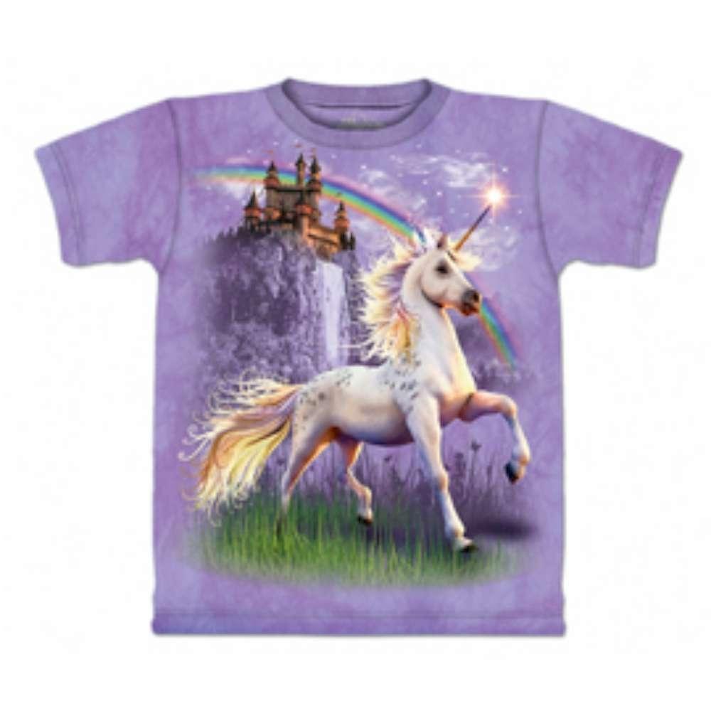 摩達客-美國The Mountain 獨角獸城堡 兒童版純棉環保短袖T恤