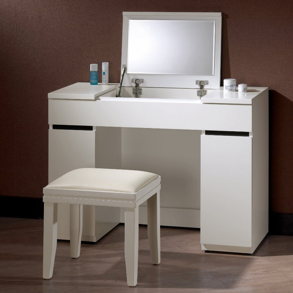 MUNA 安格斯3.3尺掀鏡化妝台/鏡台(含椅)  100X40X76cm