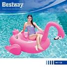 Bestway 41108火烈鳥造型充氣浮排坐騎游泳圈水上玩具附修補片.動物座騎充氣浮圈