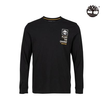Timberland 男款黑色NATURE NEEDS HEROES圖案有機棉長袖T恤 A4332001