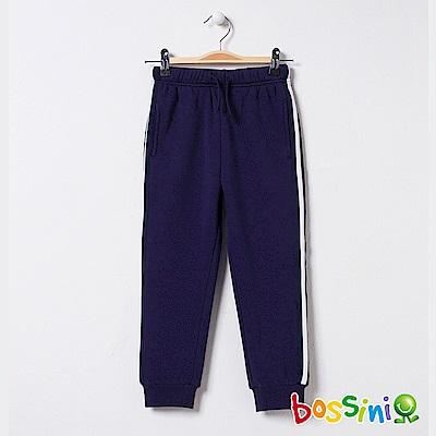 bossini男童-針織厚棉長褲02海軍藍