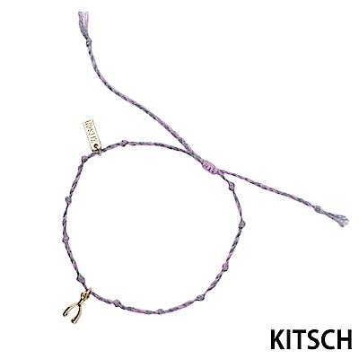 KITSCH 美國加州時尚品牌 許願人魚骨鍍金紫色手鍊 @ Y!購物