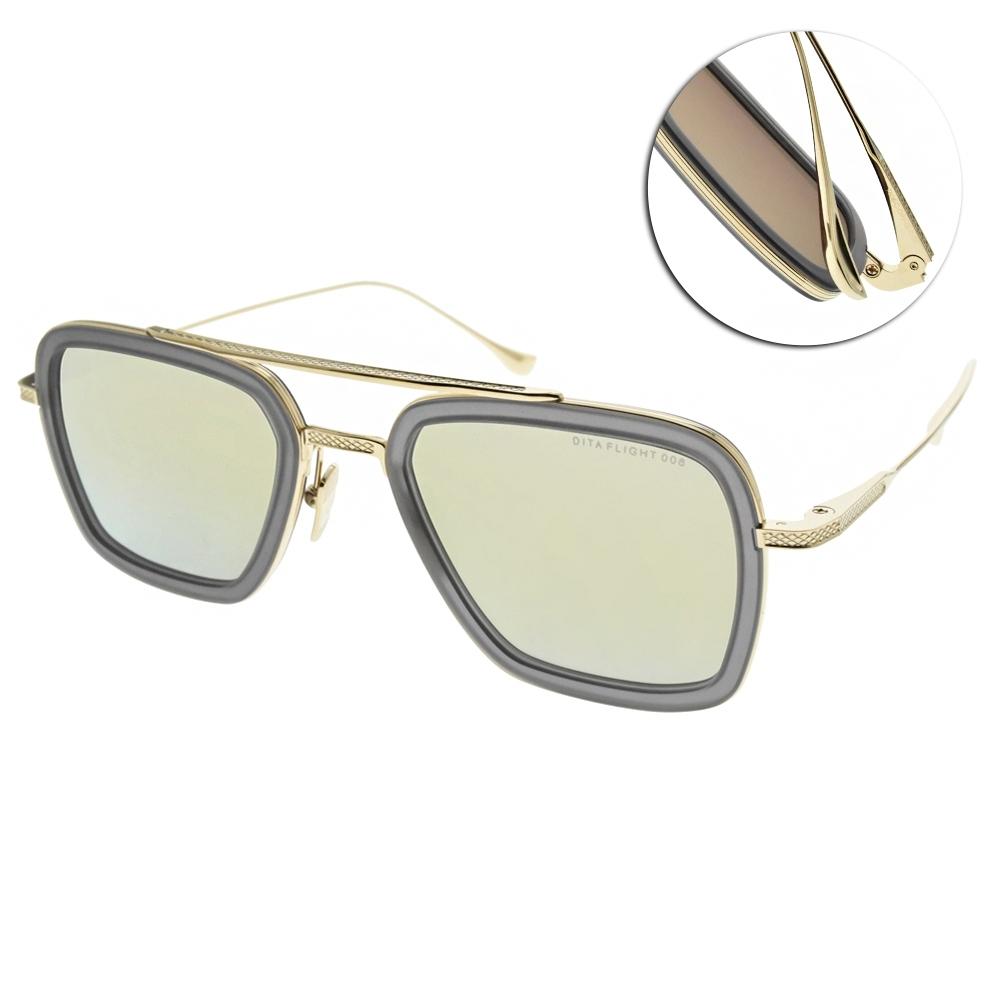 DITA 太陽眼鏡 鋼鐵人飛行款/透灰金-黃白水銀灰鏡片#FLIGHT 006 7806-C-GRY-GLD