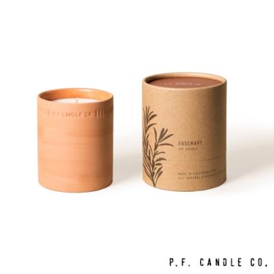 美國 P.F. Candles CO. 植物陶罐系列 摩洛哥迷迭香 手工香氛蠟燭 226g