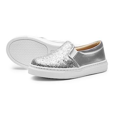 BuyGlasses 星河拼接質感懶人鞋-銀