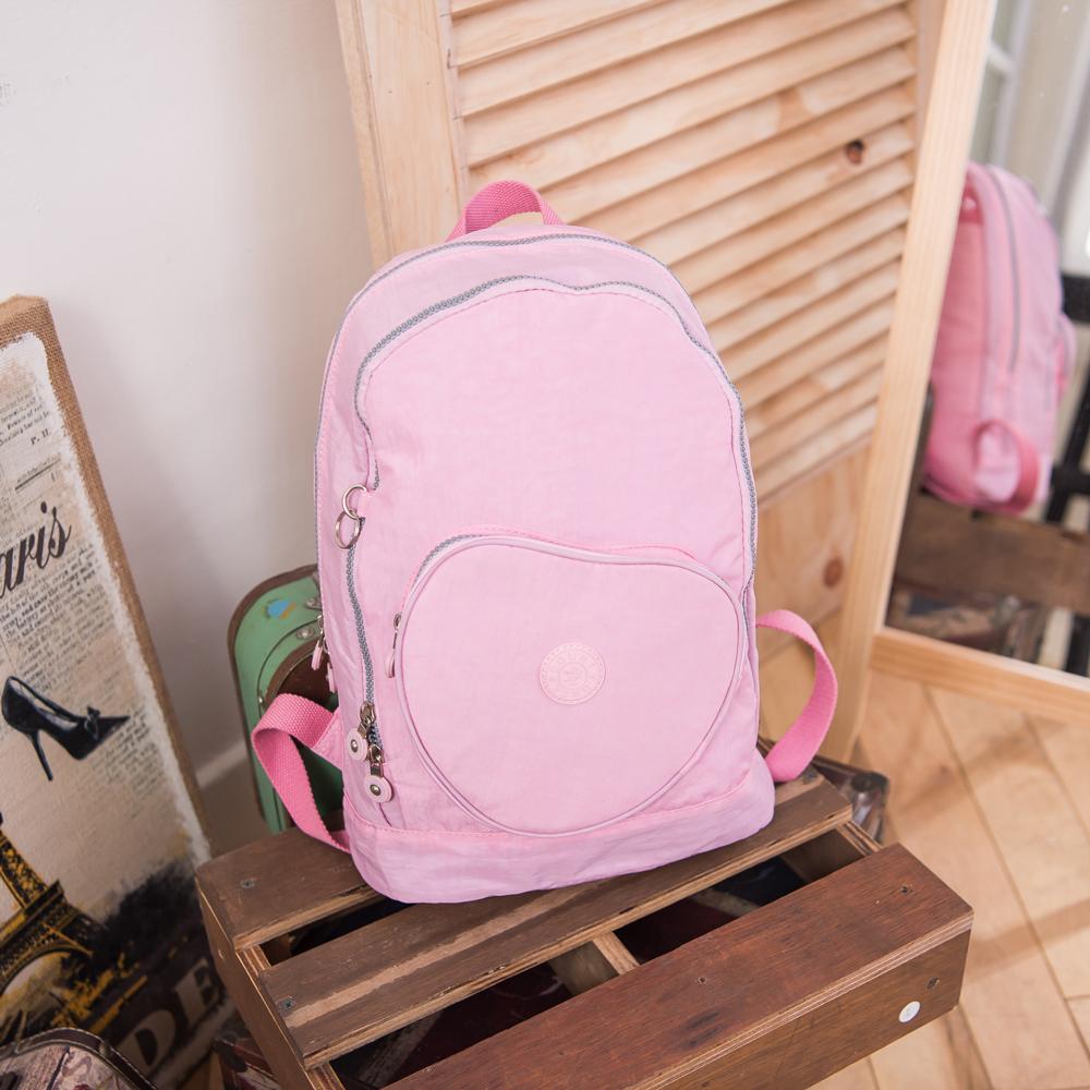 COUNT DUCK 美系悠活輕量愛心輕旅後背包-CD-018-櫻花粉