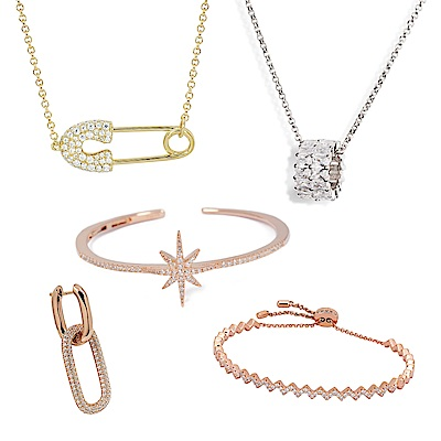 [時時樂限定]apm MONACO法國精品珠寶 多款摩登耳環/手環/項鍊(原價$5700)