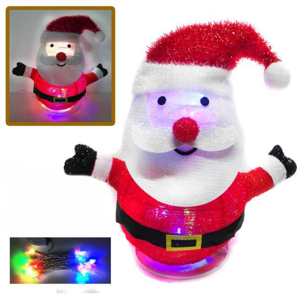 摩達客 彈簧燈籠式折疊42CM聖誕老公公 LED 20燈雙閃插電式燈串