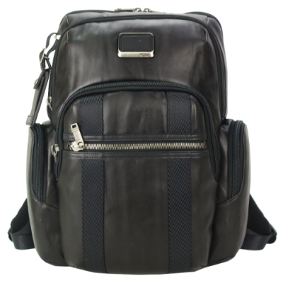 TUMI ALPHA BRAVO NELLIS簡約尼龍後背包(適用15吋筆電)-深棕