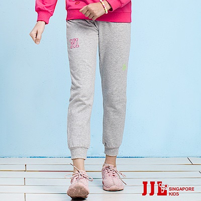 JJLKIDS 甜美字母休閒運動褲(麻灰)