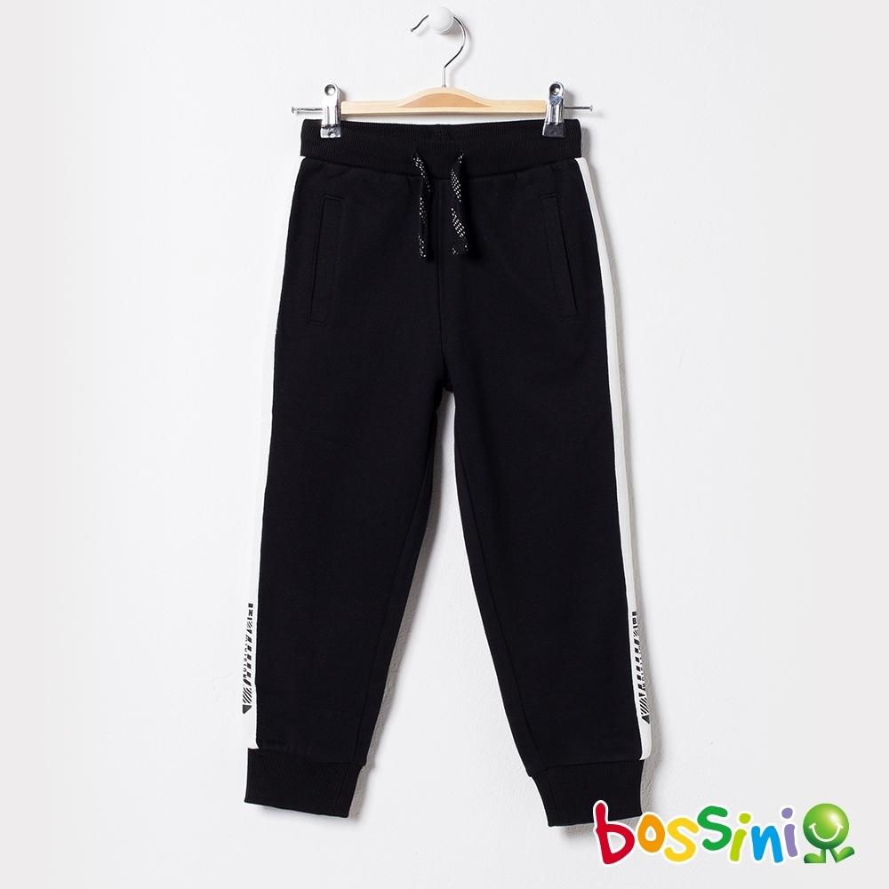 bossini男童-運動束口綿褲01黑