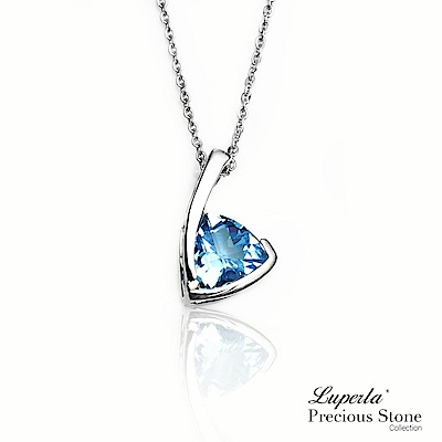大東山珠寶 天然托帕石 瑞士藍3克拉 14K白金項鍊