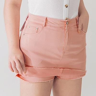 AIR SPACE PLUS 不收邊軟料顯瘦褲裙(粉紅)