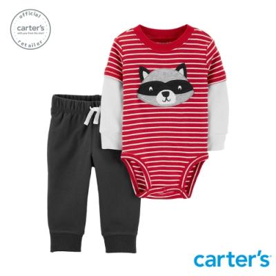 【Carter s】 浣熊條紋2件組套裝 (台灣總代理)